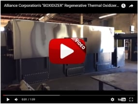 BOXIDIZER Regenerative Thermal Oxidizer with Exclusive Pneumatic Lid