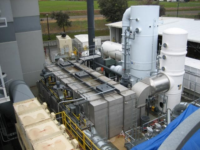 A 15,000 SCFM TRITON™ Regenerative Thermal Oxidizer constructed of AL-6XN®. Alliance handled controls for downstream acid gas scrubber and associated peripherals. Installed by customer.