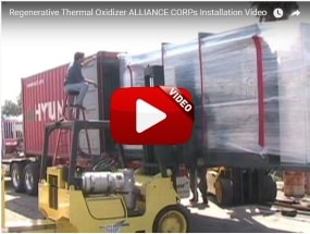 BOXIDIZER Regenerative Thermal Oxidizer Installation