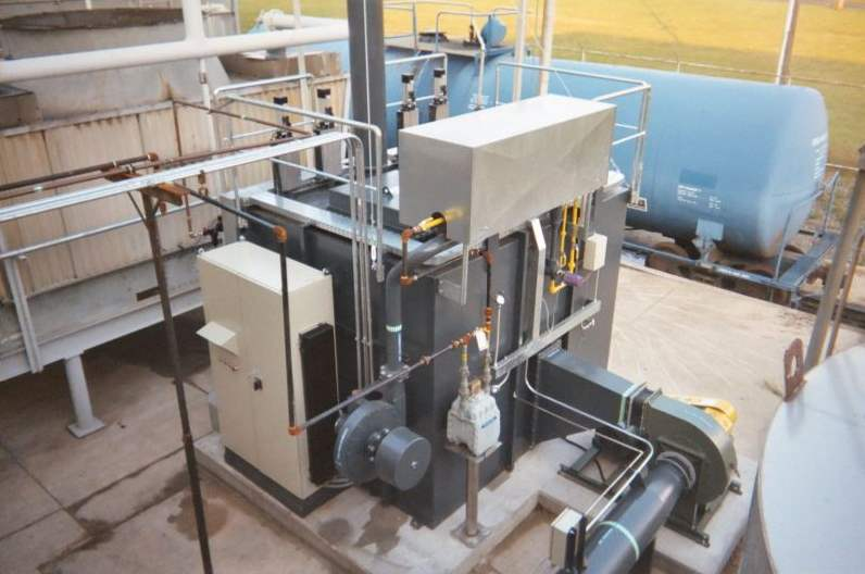 Regenerative Thermal Oxidizer Installation #1267 Chemical Manufacturer in Chicago, FL